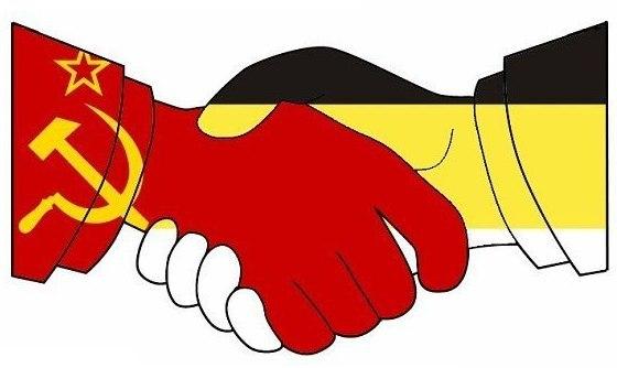 Красные и имперцы рукопожатие